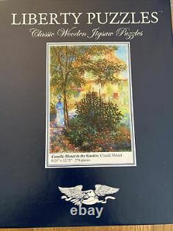Liberty Puzzles Wooden Wood 276 Piece Jigsaw Puzzle Claude Monet In The Garden