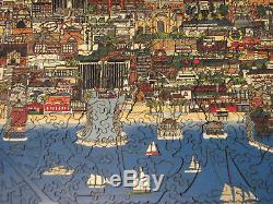 Liberty Wooden Jigsaw PuzzleL. A. By Night 588 Pieces COMPLETE