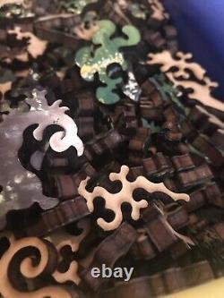 Liberty Wooden Jigsaw Puzzle DR SEUSS Green Cat with Lights Stroogo VonM 584 PCs
