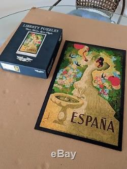 Liberty Wooden Jigsaw Puzzle-España from Spring 2018, Complete