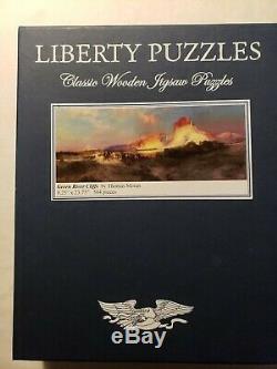 Liberty Wooden Jigsaw Puzzle Green River Cliffs 504 pcs