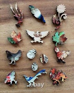 Liberty Wooden Jigsaw Puzzle. Hens & Peacock by Max Hanger. Beautiful! Large
