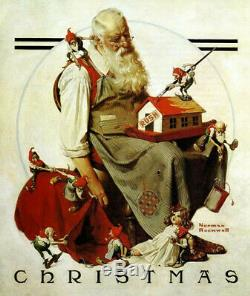 Liberty Wooden Jigsaw Puzzle Norman Rockwell Santa with Elves, 495 pcs Whimsy pc