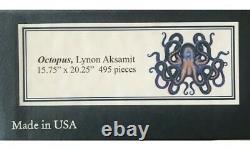 Liberty Wooden Jigsaw Puzzle Octopus, Lynon Aksamit, EUC One Owner, 495 Pcs