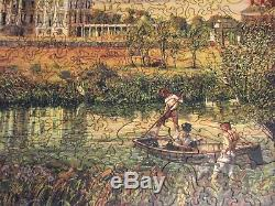 Liberty Wooden Jigsaw Puzzle Tiber Creek The Bathers 443 Pieces COMPLETE