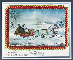 Liberty Wooden Jigsaw Puzzle WINTER ROAD New & Sealed! Christmas Sleigh Ride