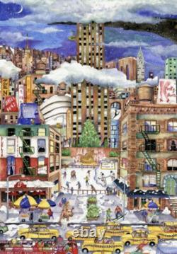 Liberty Wooden Jigsaw Puzzles, Light Snowfall In New York (New)