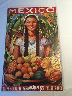 Liberty Wooden Jigsaw Puzzles retired Mexico poster, 507 pieces complete