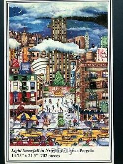 Liberty Wooden XL Jigsaw Puzzle Light Snowfall in New York 709 pieces Linnea P