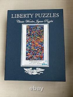 Liberty wooden jigsaw puzzlesa plethora of cats, Dr. Seuss, 545 piece