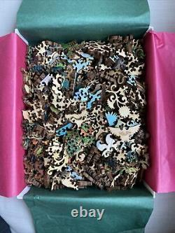 Liberty wooden jigsaw puzzleshens and peacock 509 pieces