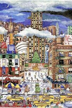 Liberty wooden jigsaw puzzleslight snowfall in New York 702 piece