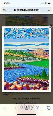 Liberty wooden jigsaw puzzlesriver particles 509 pieces