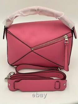 Loewe Puzzle Bag, Small, Pink, Authentic, New With Dustbag, Striking Pink