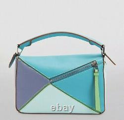 Loewe Small Leather Puzzle Bag Blueberry Multi, Authentic, Invoice+ Dustbag