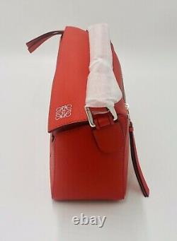 Loewe Small Puzzle Bag Red, Authenticated, New With Dustbag + Invoice
