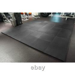 MEISTER 1.5 PUZZLE FLOOR MATS EXTRA THICK Home Gym Play Foam Wrestling BLACK