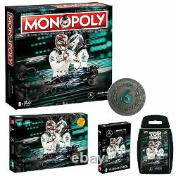 Mercedes Game Bundle Monopoly + Coin + Playing Cards + Top Trumps + Puzzle