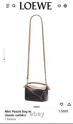 NEW AUTHENTIC LOEWE Puzzle Mini Bag Black/Tan (1500)