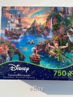 NEW Disney Dreams Thomas Kinkade 750 piece Jigsaw Puzzle Peter Pan's Neverland