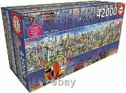 NEW Educa Jigsaw Puzzle 42000 Pieces Tiles Around The World