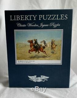 NEW Liberty Wooden Jigsaw Puzzle My Bunkie by Charles Schreyvogel (606 pieces)
