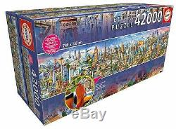 NEW OPEN BOX Educa Panoramic Around The World 42000 Worlds Largest Puzzle READ