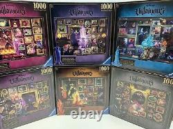 NEW Ravensburger Disney Villainous Puzzle 1000 Pieces Set of 6 Yzma Scar Ratigan