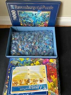 NEW! Ravensburger Underwater Paradise 9000 Piece Jigsaw Puzzle Box Open