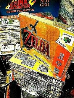 NEW Vintage NINTENDO 64 Atari ZELDA GOLD MARIO Ocarina of Time N64 Majora's MASK