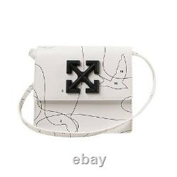 NWT OFF WHITE c/o VIRGIL ABLOH White Puzzle Jitney Mini Crossbody Bag $1015