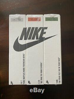 Nike Collectible Jigsaw Puzzle Set Of 3 Limited Edition New In Box Retro Ad Camp