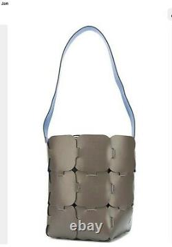 PACO RABANNE Large Grey Leather Puzzle Shoulder Hand Bag Worn Once