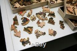 Pastime Puzzle Contest Game Vintage Parker Bros c. 1929 complete 4 player set
