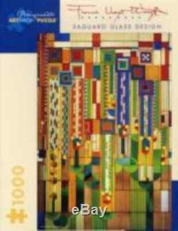 Pomegranate Frank Lloyd Wright Saguaro Glass Designs 1000 Piece Jigsaw Puzzle