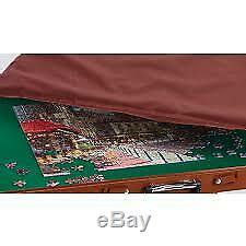 Portable Jigsaw Wooden Play Table Collapsible Puzzle and Storage System