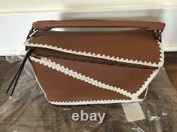Price Drop! New Loewe Puzzle Medium Crochet-trimmed Leather Shoulder Bag $3350