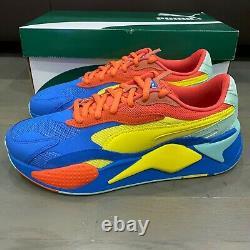 Puma Men's RS-X3 Jr Puzzle Sneakers HD3 Palace Blue 371570-14 Size 10 New