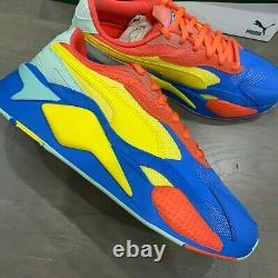 Puma Men's RS-X3 Jr Puzzle Sneakers HD3 Palace Blue 371570-14 Size 9.5 New