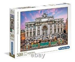 Puzzle Clementoni 500 pezzi Roma fontana di Trevi cm 49x36