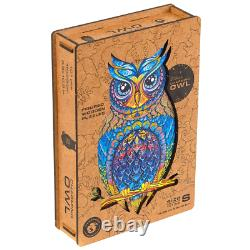 Puzzle Jigsaw 101 Pieces Charming owl best gift New unique russian wooden