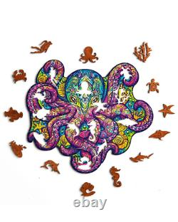 Puzzle Jigsaw 210 Pieces Pacific Octopus best gift New unique russian wooden