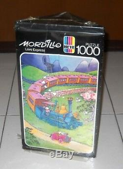 Puzzle MORDILLO love Express 1000 pcs Heye 1985 art 8745 Neu Guillermo