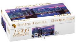 Puzzle New York Blick auf Manhattan, 13.200 Teile, Amerika, USA, Clementoni