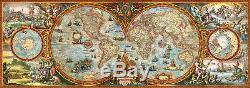 Puzzle Panorama-Weltkarte, 6000 Teile, Geografie, Erdkunde, Wissen, Heye
