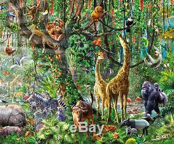 Puzzle Wildlife Im Dschungel, 33.600 Teile, Tiere, Natur, Urwald, Educa