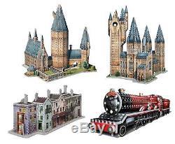 Puzzle Wrebbit 3D 2645 Teile 4 3D Puzzles Set Harry Potter (55624)