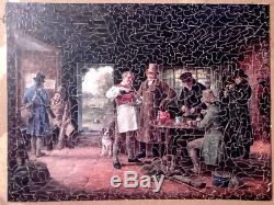Puzzle bois découpé main ROYAL VERA PUZZLE COMPLET 800 pièces ancien
