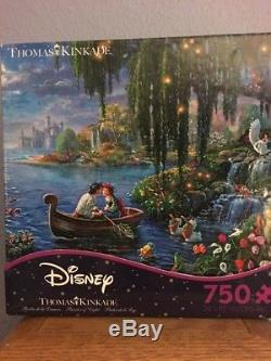RARE Thomas Kinkade-The Little Mermaid II Kiss the Girl 750 Piece Puzzle New