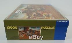 RARE Vintage -Ravensburger Jigsaw Puzzle 12000 Piece 1983 Hieronymus Bosch
